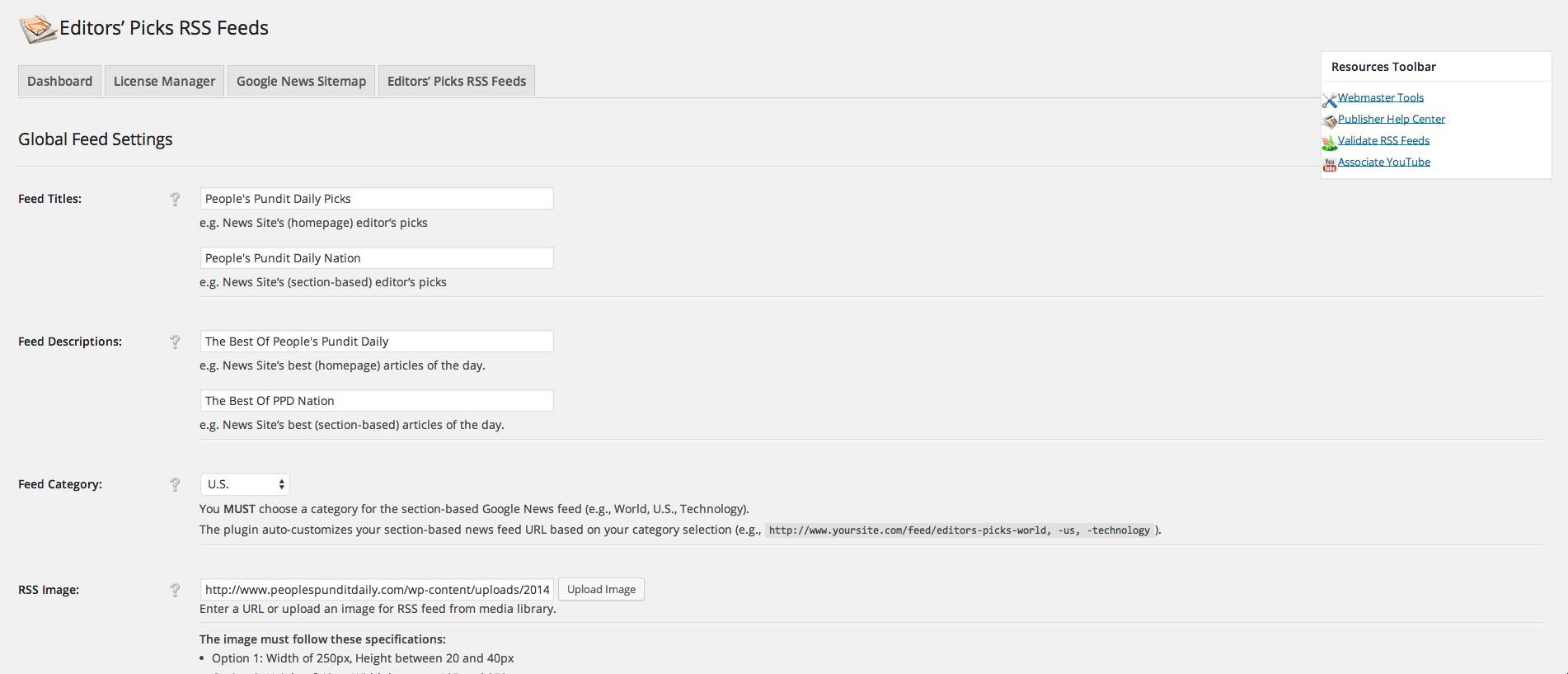 99cf7e2cb6b237 Creating Custom Google News Editors  Picks RSS Feeds With WordPress ...