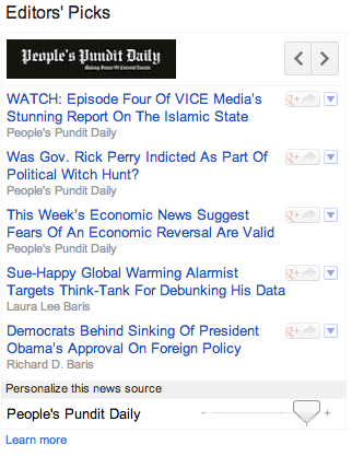 Editors' Picks Screen Shot As Seen On Google News