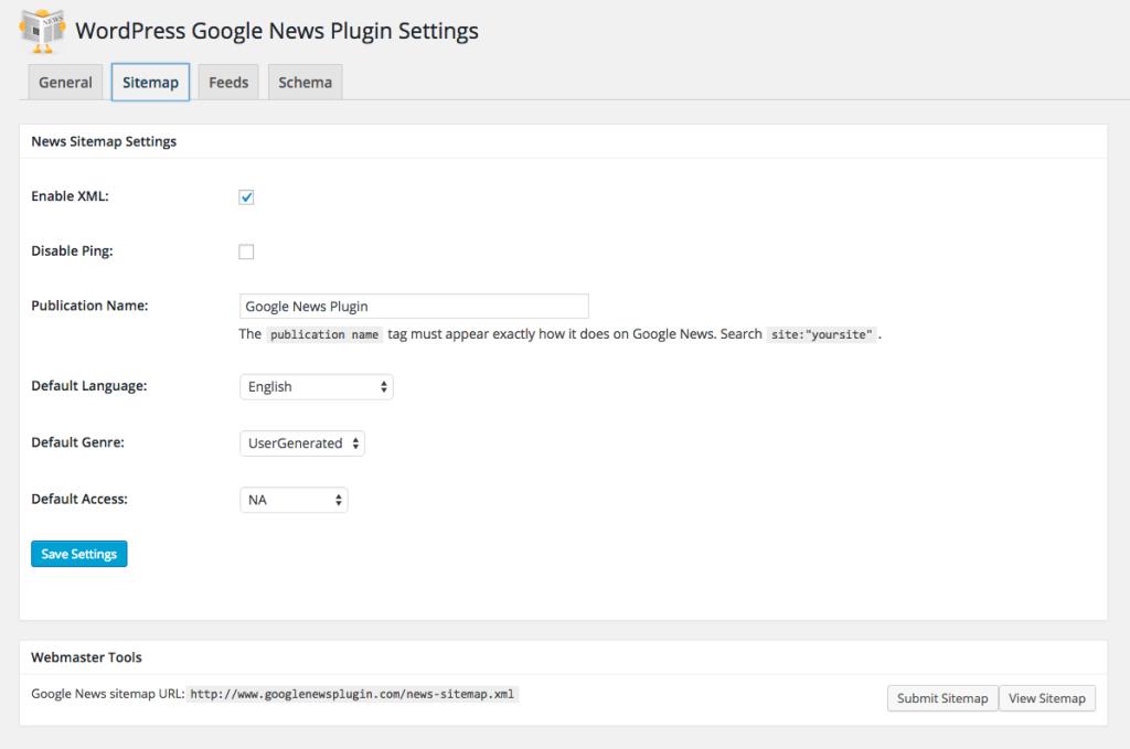 WordPress-Google-News-Plugin-Sitemap-Admin-Tab-Dash